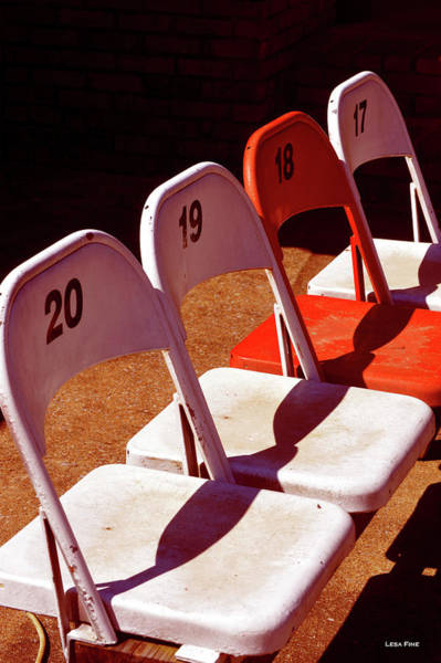 Photograph - Talladega Race Track Stadium Seats II by Lesa Fine