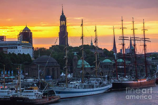 Wall Art - Photograph - Tallships Moored In Hamburg by Sheila Smart Fine Art Photography