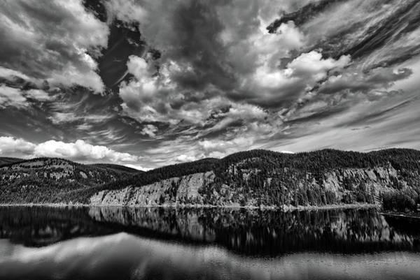 Photograph - Tally Lake Bw by Jedediah Hohf