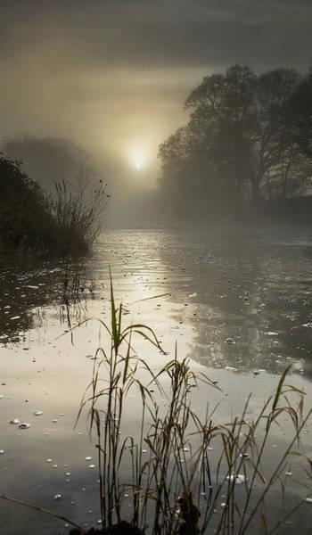 Tamar River Winter  Sunrise, Uk Art Print