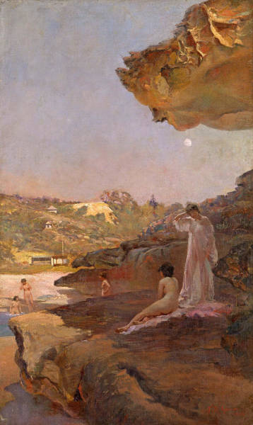 Forty Painting - Tamarama Beach Forty Years Ago A Summer Morning  by Julian Ashton