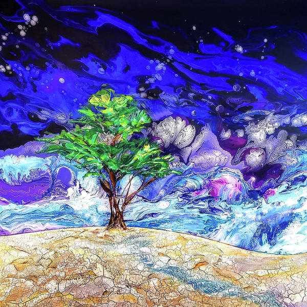 Wall Art - Painting - Tamarisk Tree By Land And Sea by Susan Card