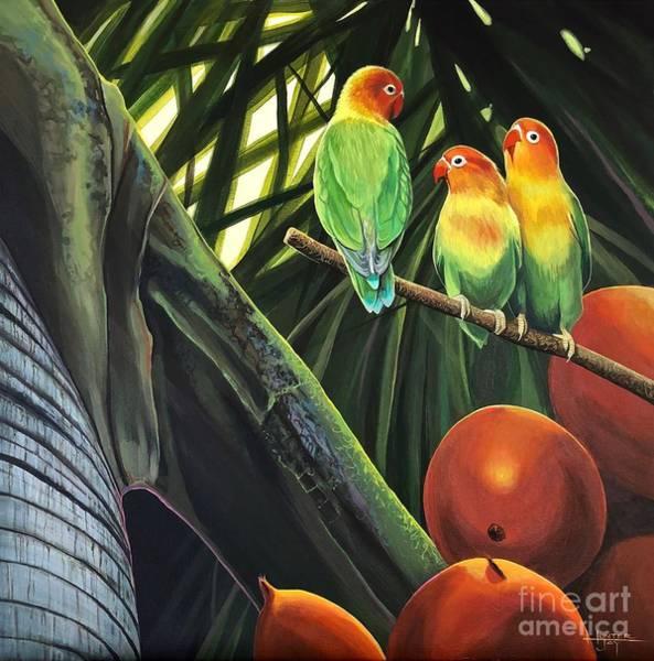 Lovebird Painting - Tamboo by Hunter Jay
