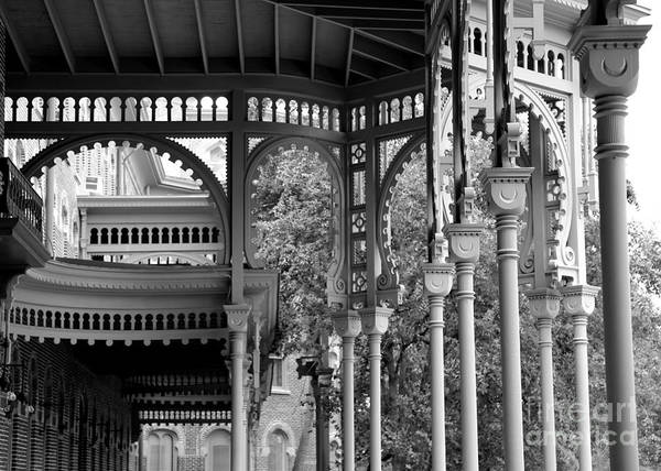 Photograph - Tampa Architecture - Black And White by Carol Groenen