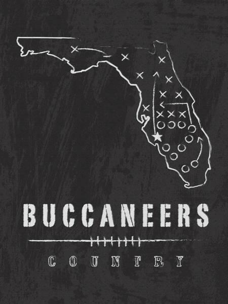 Tampa Digital Art - Tampa Bay Buccaneers Art - Nfl Football Wall Print by Damon Gray