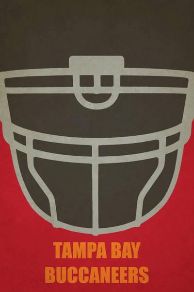 Wall Art - Painting - Tampa Bay Buccaneers Helmet Art by Joe Hamilton