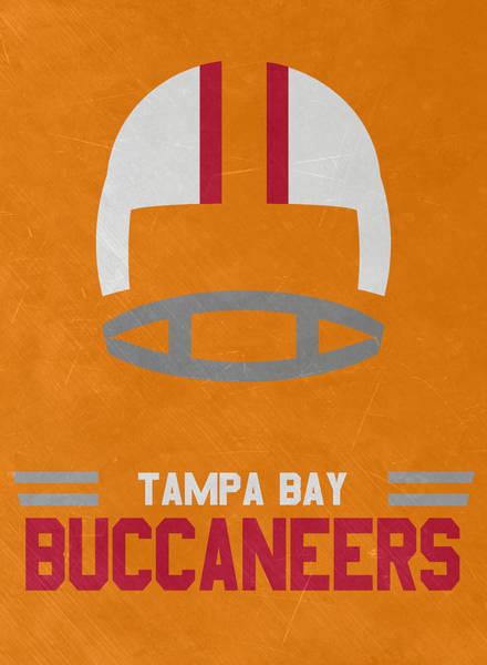 Wall Art - Mixed Media - Tampa Bay Buccaneers Vintage Art by Joe Hamilton