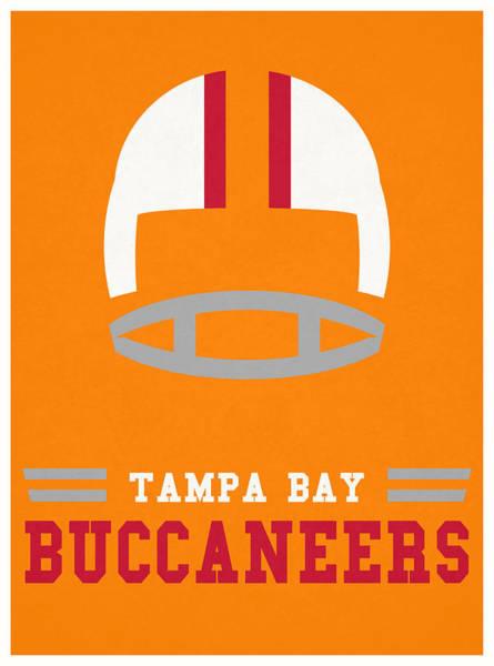 Wall Art - Mixed Media - Tampa Bay Buccaneers Vintage Nfl Art by Joe Hamilton