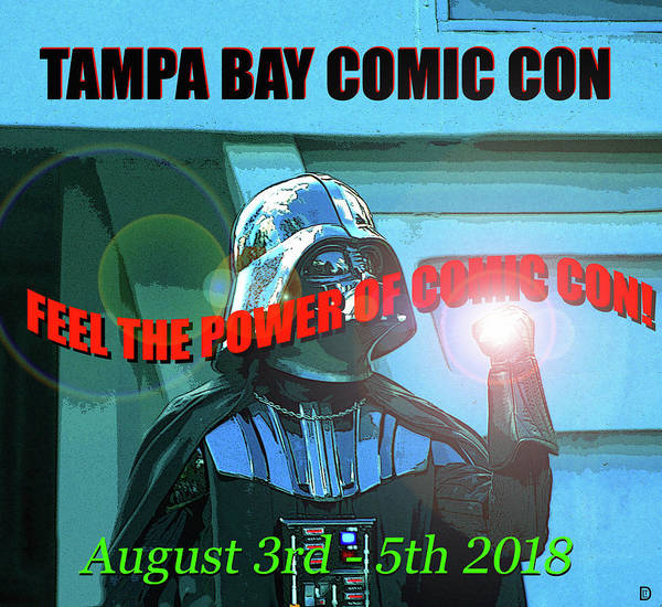 Tampa Digital Art - Tampa Bay Comic Con 2018 T Design B by David Lee Thompson