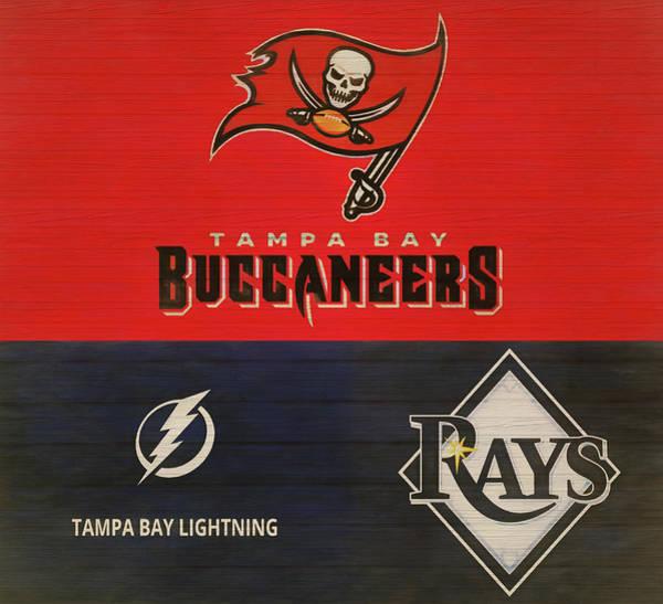 Mixed Media - Tampa Bay Sports Teams  by Dan Sproul