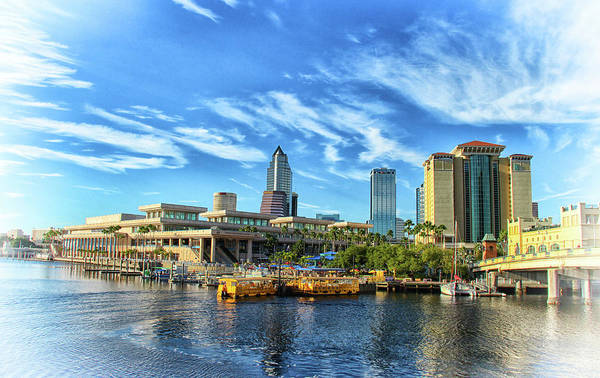 Photograph - Tampa Convention Center And Skyline  by Ola Allen