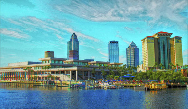 Photograph - Tampa Florida Convention Center And Skyline by Ola Allen