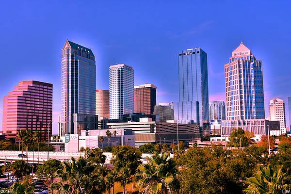 Photograph - Tampa Florida Skyline by Lisa Wooten
