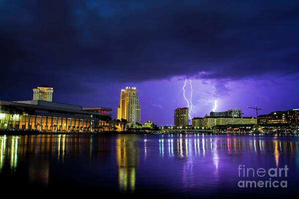 Grey Cloud Photograph - Tampa Reflections by Quinn Sedam