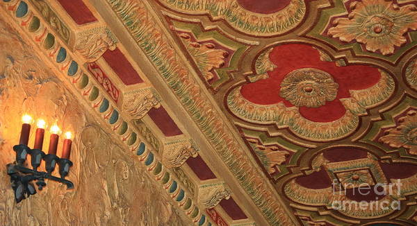 Photograph - Tampa Theatre Ornate Ceiling by Carol Groenen