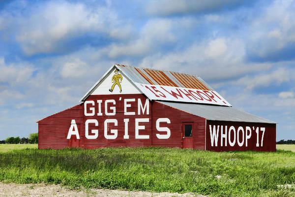 Wall Art - Photograph - Tamu Aggie Barn by Stephen Stookey