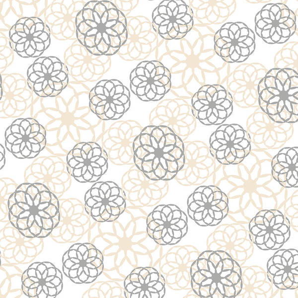 Mixed Media - Tan And Silver Floral Pattern by Christina Rollo