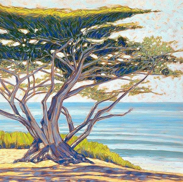 Wall Art - Painting - Taneyhill Carmel Cypress by Tom Taneyhill