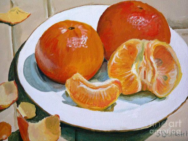 Tangerine Art Print by Sandra Bellestri