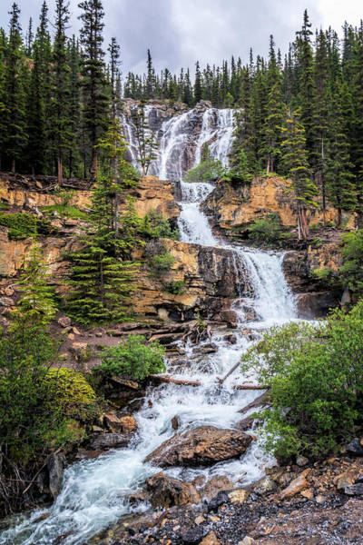 Photograph - Tangle Falls Jasper Alberta Canada by Joan Carroll