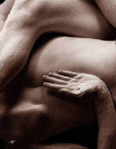 Painting - Tangled Bodies Intimate Anonymity 2 by Tony Rubino