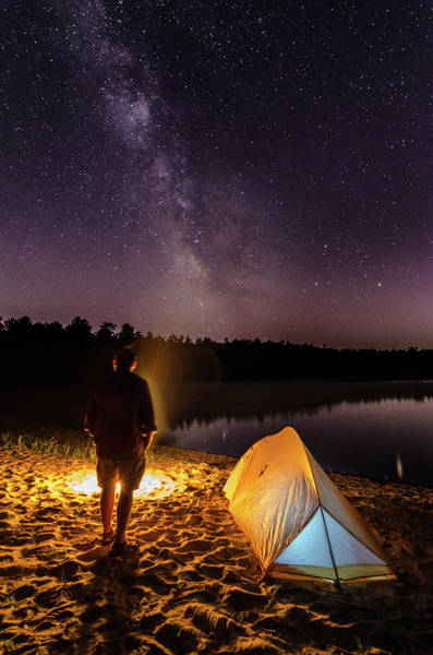 Cachalot Wall Art - Photograph - Tangled In Stars And Firelight by Dennis Wilkinson