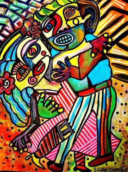 Painting - Tango Dance Of Love by Sandra Silberzweig