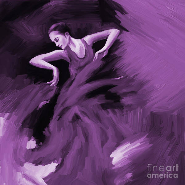 Latino Painting - Tango Dancer 01 by Gull G