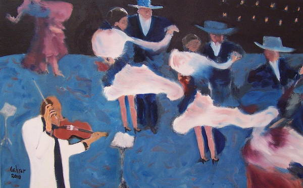 Avi Painting - Tango In Beunos Aries by Avi Lehrer