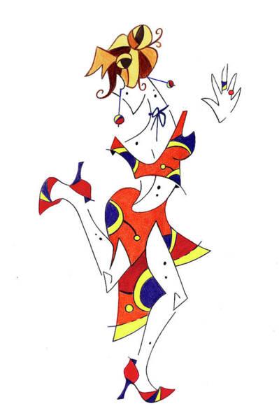 Wall Art - Drawing - Tango Lessons - Woman Shoes - Dancing Illustration by Arte Venezia