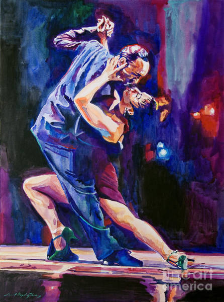 Wall Art - Painting - Tango Romantico by David Lloyd Glover