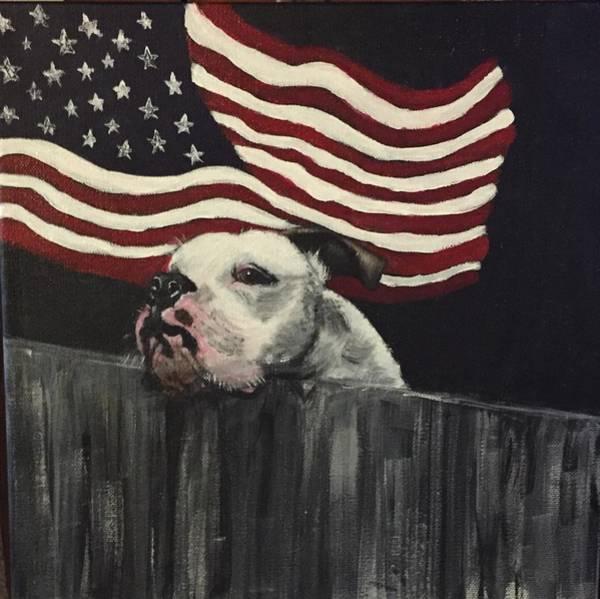 English Bulldog Painting - Tank by Peggy Roberson