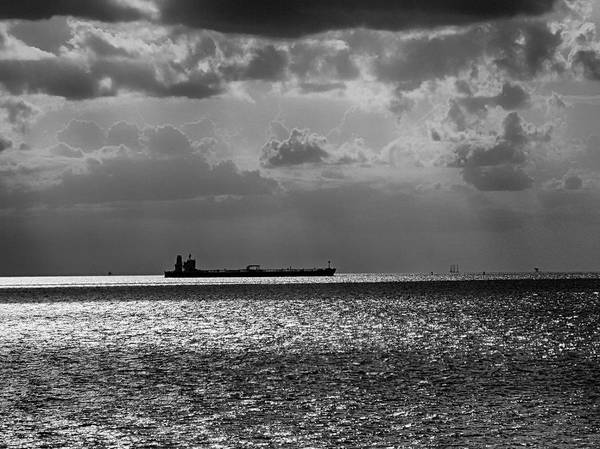 Photograph - Tanker Underway by Charles McKelroy