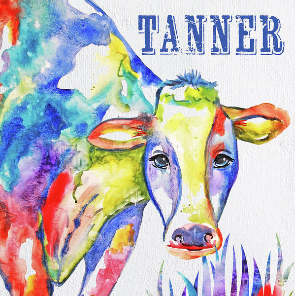 Wall Art - Painting - Tanner Personalized Art by Jean Plout