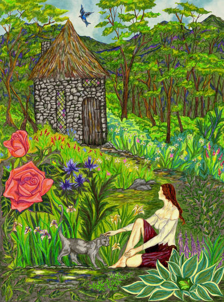 Drawing - Tansel's Garden by FT McKinstry
