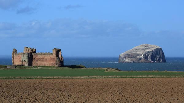 Photograph - Tantallon Castle And The Bass Rock by Maria Gaellman