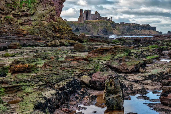 Photograph - Tantallon Castle In Scotland by Jeremy Lavender Photography