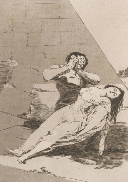 Relief - Tantalus by Francisco Goya