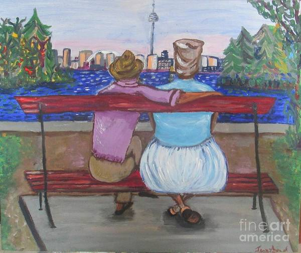 Painting - Tantie And Slim Visit Toronto Island by Jennylynd James