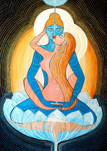Peace And Love Painting - Tantric Love by Agnieszka Szalabska