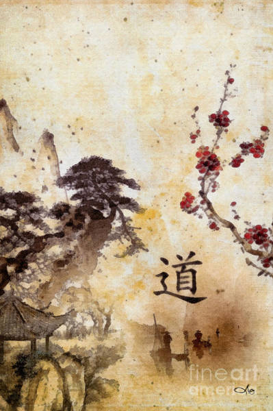 Wall Art - Painting - Tao Te Ching by Mo T