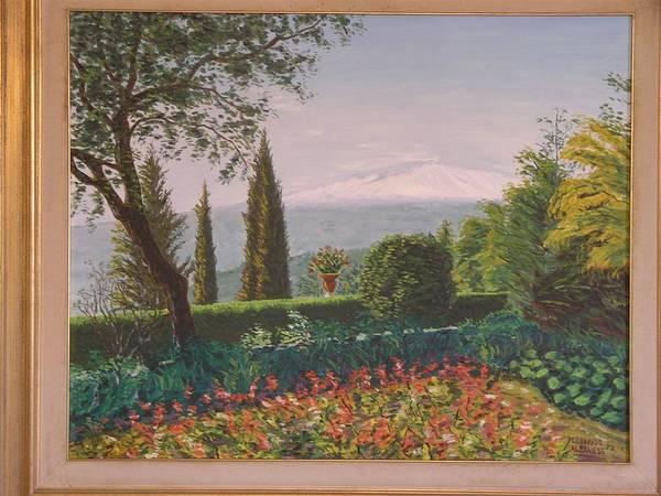 Wall Art - Painting - Taormina I Giardini E L by Leonardo Albanese