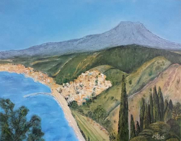 Wall Art - Painting - Taormina, Sicily by Judy Jones
