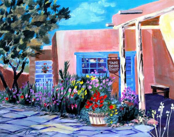 Painting - Taos Book Shop by Adele Bower