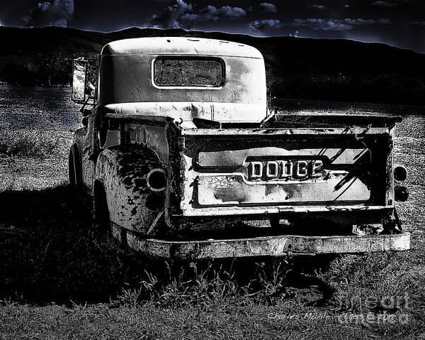 Photograph - Taos Dodge B-w by Charles Muhle