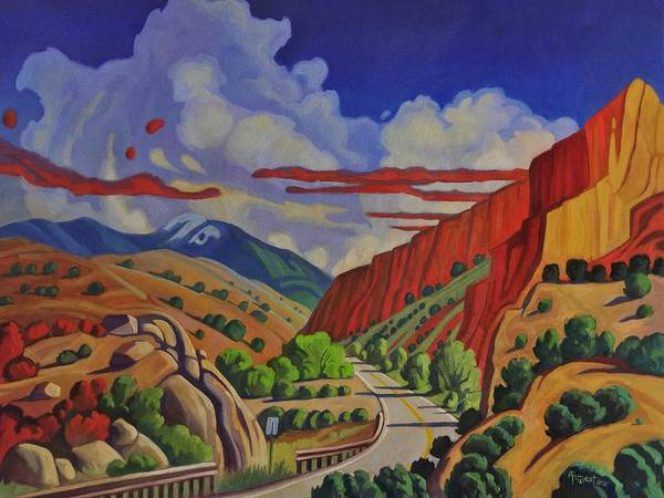 Terrain Painting - Taos Gorge Journey by Art West