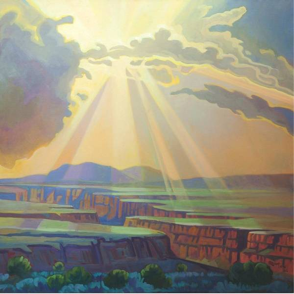 Painting - Taos Gorge God Rays by Art West
