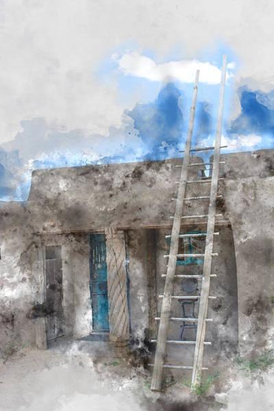 Wall Art - Mixed Media - Taos House 1 by Kevin O'Hare