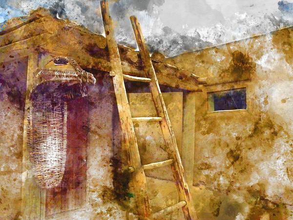 Wall Art - Mixed Media - Taos House 3 by Kevin O'Hare