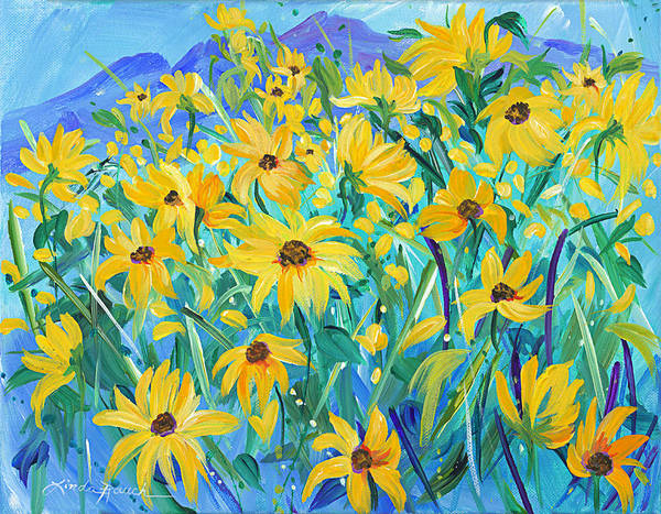 Painting - Taos In Gold by Linda Rauch